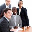 Stock Photo: Confident multi-ethnic business in a meeting