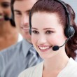 International customer service representatives standing in a lin — Stock Photo #10281999