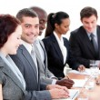 Assertive multi-ethnic business in a meeting — Stock Photo #10282019