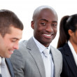 Self-assured multi-ethnic business in a meeting — Stock Photo