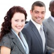 Cheerful multi-ethnic business in a meeting — Stock Photo
