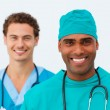 Portrait of two sexy doctors — Stock Photo