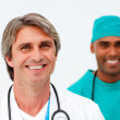 Portrait of two charismatic doctors — Stock Photo
