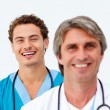 Portrait of two successful doctors — Stock Photo