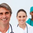 Portrait of a smiling medical team — Stock Photo