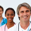 Portrait of a smiling medical team — Stock Photo #10282807