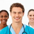 Portrait of cute medical team — Stock Photo #10282813
