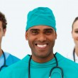 Portrait of a charming medical team — Stock Photo #10282814