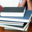 Stack of books on a table — Stock Photo