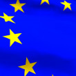 Highly Detailed 3d render of an EU Flag — Stock Photo