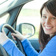 Royalty-Free Stock Photo: Young woman driving
