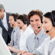Stock Photo: Self-assured customer service representatives