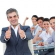 Cheerful business celebrating a success — Stock Photo #10284837