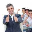 Happy business celebrating a success — Stock Photo