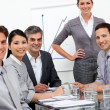 A diverse business team at a presentation — Foto de Stock