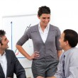 Royalty-Free Stock Photo: Confident manager presenting to her team