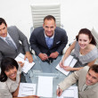 Business team working together in an office — Foto de Stock