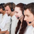 Manager working with his team in a call center — Stock Photo #10285530