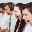 Manager working with his team in a call center — Stock Photo