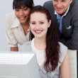 Smiling international Business working together — Stock Photo