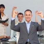 Successful multi-ethnic business partners — Stock Photo