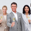 Business team celebrating a success with champagne — ストック写真 #10286422