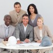 Architectural business team working in the office — Stock Photo #10286505