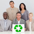 Good environmental practices in the office — Stock Photo #10286515