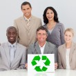 Good environmental practices in the office — Stock Photo