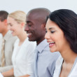 Presentation of a positive business team at work — Stock Photo