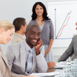 Happy Business at a presentation — Stock Photo