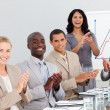 Business clapping at a presentation — Stock Photo #10287029