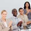 Business clapping at a presentation — Stock Photo