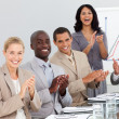 Business clapping at a presentation — Stock Photo #10287038