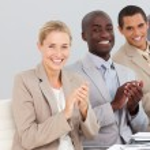 aplausos en una presentación de negocios — Foto de Stock