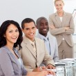 Potrait of a business team at a presentation — Stock Photo