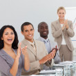 Business at a presentation Clapping — Foto de Stock