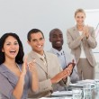 Business at a presentation Clapping — Stockfoto