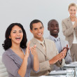 Business at a presentation Clapping — Stock Photo