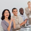 Business at presentation Clapping — Stock Photo #10287084