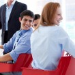 Smiling business discussing at a conference — Stock Photo #10287700