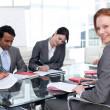 internationale zakelijke team in een vergadering — Stockfoto