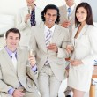 Successful business team drinking Champagne — Stock Photo