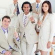 Confident business team celebrating a success — Stock Photo #10288244