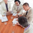 Foto Stock: Multi-ethnic business co-workers in meeting