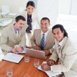 Royalty-Free Stock Photo: Enthusiastic business team having a brainstorming