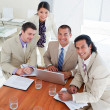 Enthusiastic business team having brainstorming — Stock Photo #10288301