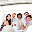 Architects smiling at the camera in a meeting — Stock Photo #10288336
