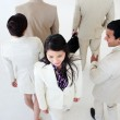 Asian businesswoman in a business building — Stock Photo