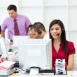 internationale zakelijke team werken — Stockfoto